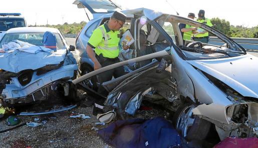 Imagen de archivo de un accidente mortal registrado en las carreteras de Mallorca.