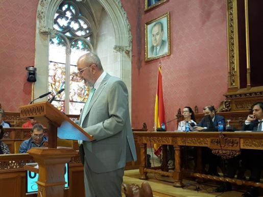 Miquel Ensenyat, en el Debate de Política General del Consell.