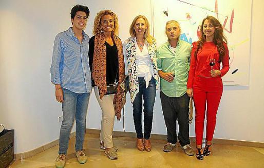 Nico Dameto, Lines Pons, Celia Togores, Xesc Formiga y Lara Berciano.