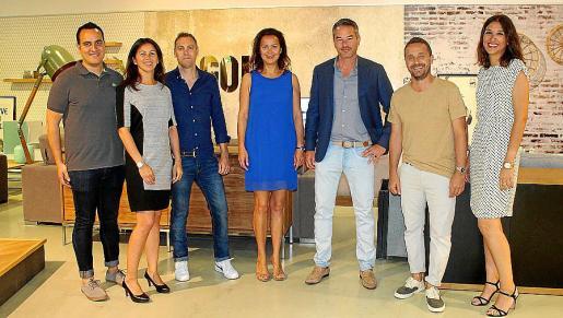 Rafa y Coque Iboleón, José Soriano, Isabel Iboleón, David Krautheim, Mikel Lipponen y Vanessa Cifuentes.