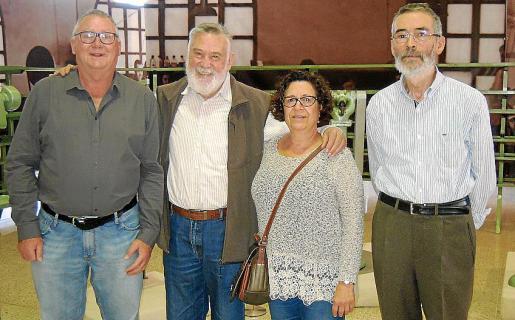 Pere Rayó, Joan Lacomba, Maria Bauçà y Arnau Amer.