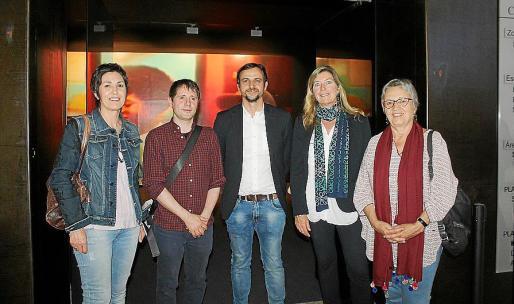Francisca Niell, Carles Congost, Llorenç Carrió, Patricia Gómez y Mercè Borrás.