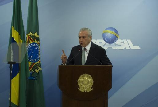 El presidente de Brasil Michel Temer.