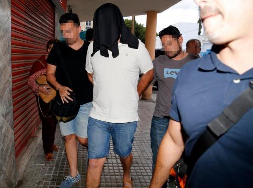 El exyerno de Juan Antonio Florit al ser detenido por el asesinato de éste.