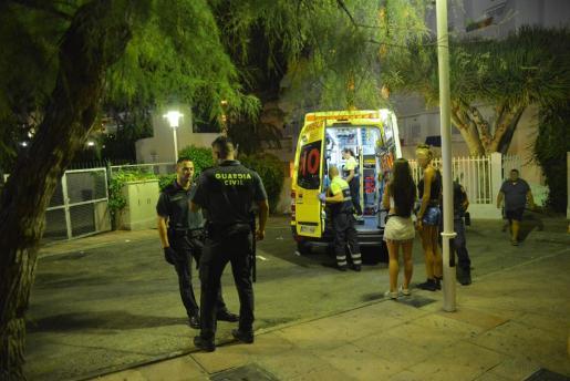 La Guardia Civil se desplegó en Punta Ballena y alrededores en busca del agresor sexual.