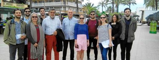 Los arquitectos llegados de distintos puntos de Europa visitaron s'Arenal para conocer 'in situ' su nuevo campo de trabajo.