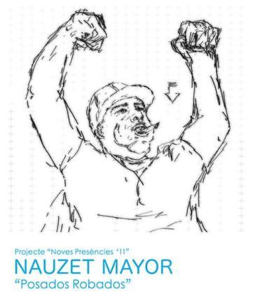 Dibujos, esculturas e instalaciones integran la exposición 'Posados robados' de Nauzet Mayor.