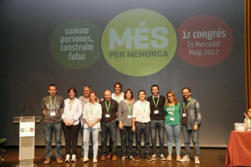 La nueva ejecutiva de Més per Menorca, al terminar el congreso