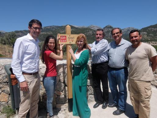 Sandra Espeja, Josep Manchado, Joan Cifre, Joan Sastre y Maria Coll durante el anuncio.