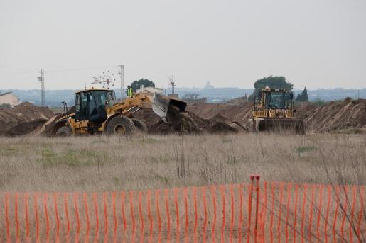 Imagen de archivo de excavadoras en Son Bosc.