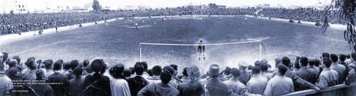 Uno de los últimos partidos disputados en el antiguo campo de Son Canals.