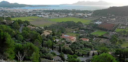 El proyecto de la urbanización del Vilà, en Pollença, se aprobó en 1983 pero nunca se ha llegado a completar.