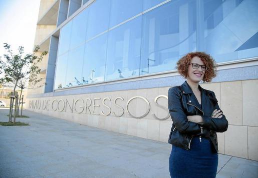 Eva Frade, regidora de Participació Ciutadana de Cort, en el Palacio de Congresos.