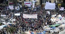 CONTINÚAN LAS PROTESTAS EN LA PLAZA DE TAHRIR