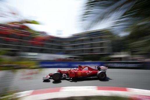 Kimi Raikkonen, de Ferrari, durante la sesión de clasificación del Gran Premio de Mónaco de Fórmula 1.