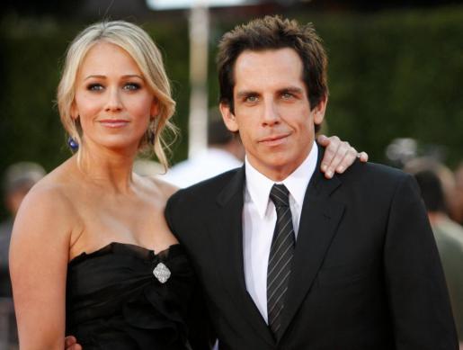 Fotografía de archivo de los actores Christine Taylor y Ben Stiller.
