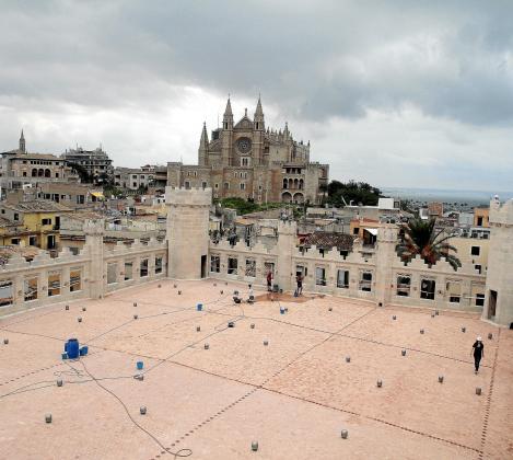 Imagen de archivo de una vista de Palma desde la nueva cubierta de sa Llonja.