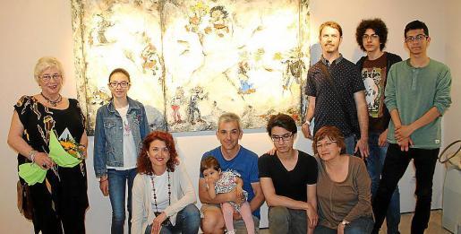Malena Tous, Alicia Miranda, Conchi García, José Archach y Alba; Marc Piñeiro, Silvana Alfaro, Víctor Pou, Diego Miranda y Miquel Perelló.