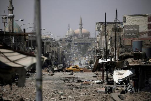 Destrucción en Mosul.
