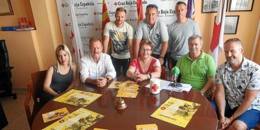 Una imagen de la rueda de prensa de la presentación de Beats for Food, ayer en la sede de Cáritas de Ibiza.