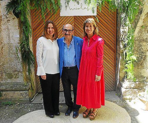 Luisa Pomar, Nicolás Pomar y Andrea Pomar.