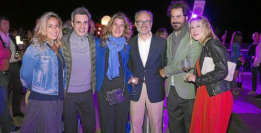 Aina Ribas, Dani Delacámara, Marian Roser, Crescenciano Huerta, Sebastián Escarrer yYolanda Cubo.
