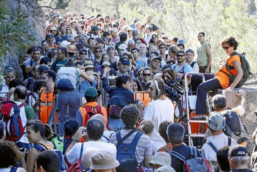 Excursión reivindicativa para protestar contra el cierre del Camí de Ternelles, en el municipio de Pollença.