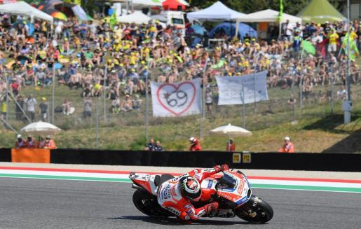 El español Jorge Lorenzo, durante la sesión de clasificación del Gran Premio de Italia.