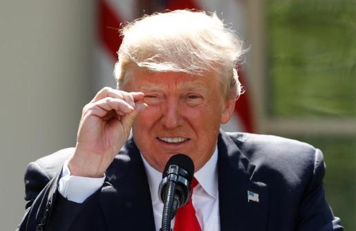 Imagen del presidente de EEUU Donald Trump durante un acto.