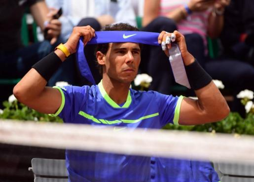 El español Rafael Nadal, durante el partido ante su compatriota Álvaro Bautista.