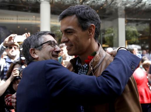 Pedro Sánchez y Patxi López, en una imagen de archivo.