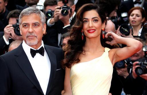 George Clooney y Amal en Cannes.