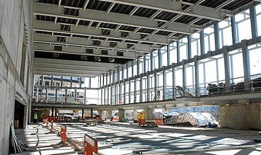 Imagen actual de la futura sala de exposiciones, que se utilizará, según el Govern, como recinto ferial.