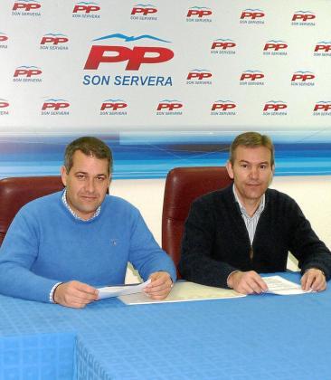 Damià Ripoll y Jaume Servera, en rueda de prensa ayer.