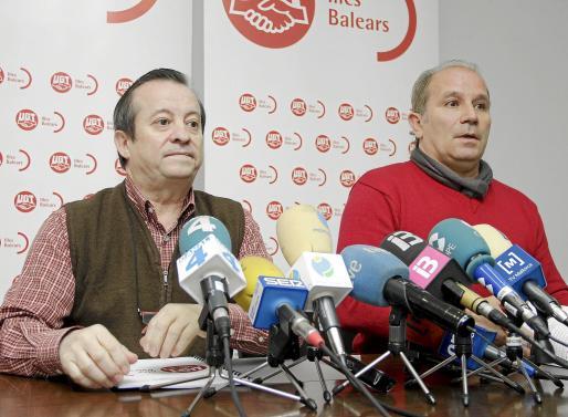Lorenzo Bravo y Manuel Pelarda en el transcurso de la rueda de prensa.