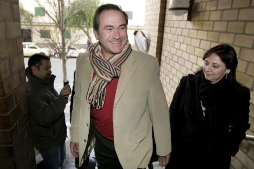 Xicu Tarrés, ayer en los juzgados, donde declaró como imputado en el 'caso Eivissa Centre.
