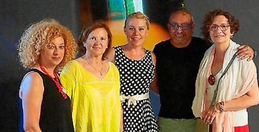 Marga González, Xisca Canyelles, Nadja Stoisser, Toni de la Mata y Teresa Jordana.