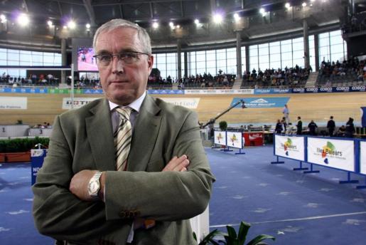 Pat McQuaid, en una visita a Palma con motivo del Mundial de Ciclismo.