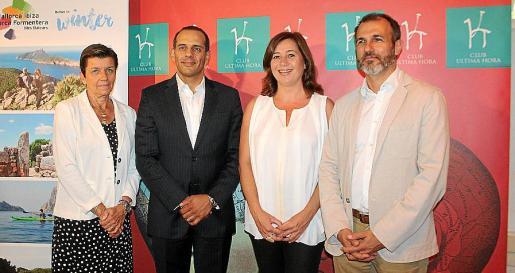 Carmen Serra, Juan Verde, Francina Armengol y Biel Barceló.