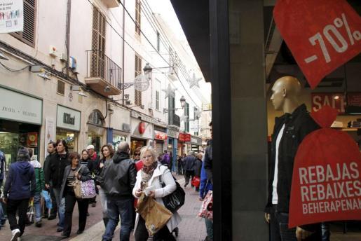 La calle Sindicato es una de las más comerciales de Palma.