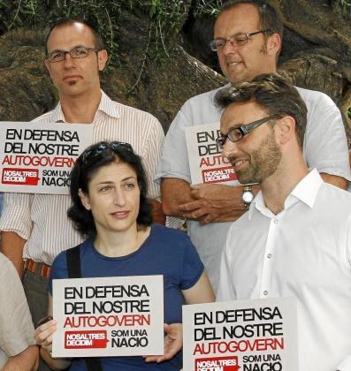 Barceló, Llauger, Bujosa y Huguet en un acto conjunto.