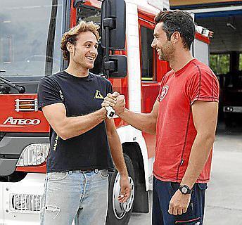 David Servera y Eduardo Covas, los héroes de este peligroso rescate.
