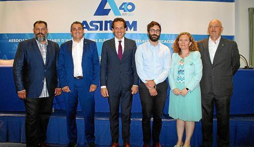 Manuel Porras, Jaime Fornés, Marc Pons, Juanjo Groizard, Isabel Reija y Carlos Moyá.