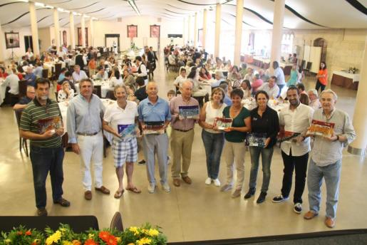 Un detalle de la entrega de premios en la edición de 2016 del Torneo de gofl benéfico Vall de Sóller, en el salón Oliver de Termes.