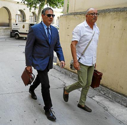 El juez Penalva y el fiscal Subirán, el viernes.