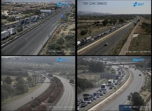 Imagen de la zona captada de las cámaras de carreteras de la Dirección General de Tráfico.