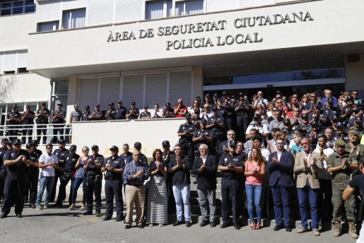 El cuartel de Sant Ferran guardó un minuto de silencio por el fallecimiento de Biel Llull en septiembre de 2016.