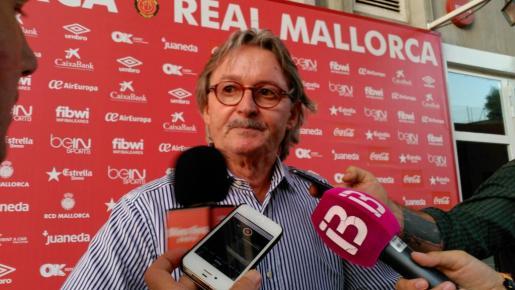 Monti Galmés tras anunciar su renuncia como presidente del Mallorca.