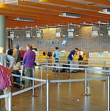 Aeropuerto de Reikiavik, en Islandia.