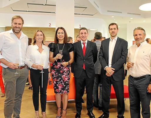 Juan Antonio Horrach, María José Hidalgo, María José Maciá, Álvaro Mazorra, Adrián García y Salvador Arévalo.